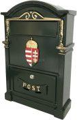 Magyar címeres utcai postaláda (zöld)