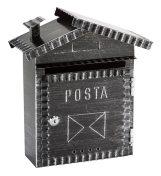 Chester kovácsoltvas jellegű utcai postaláda (fekete)