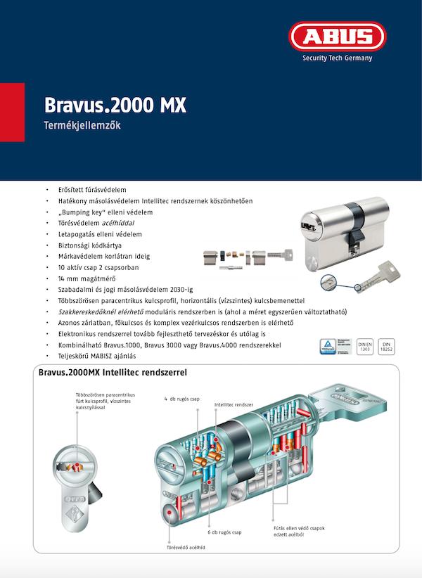 ABUS Bravus 2000 MX moduláris zárbetét